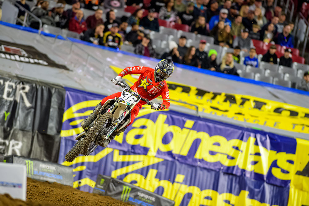 Rockstar Husqvarna's Mosiman finished 10th on the night