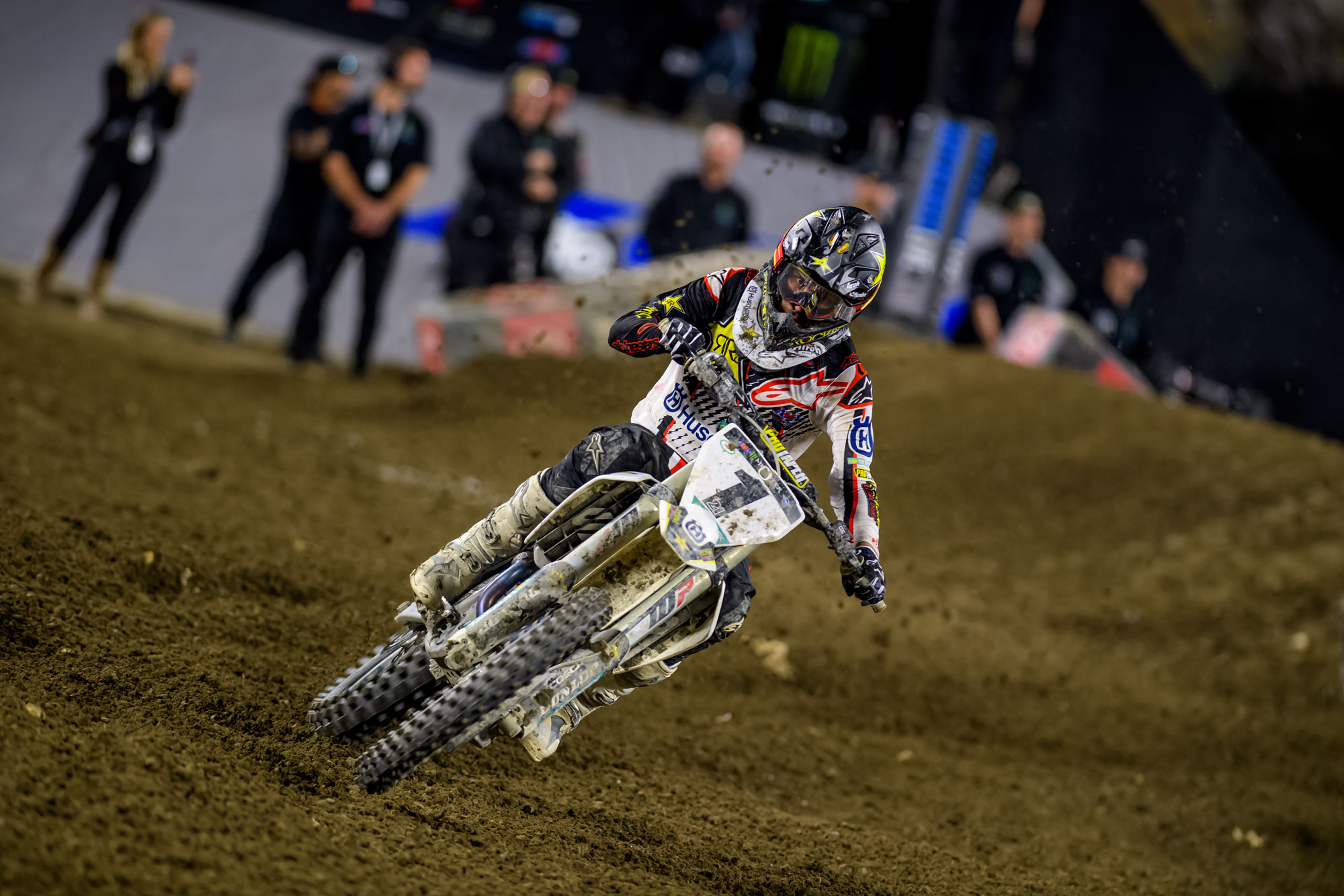 Rockstar Husqvarna's Jason Anderson went 6-6-17 in the first Triple Crown event of the year for 9th overall.