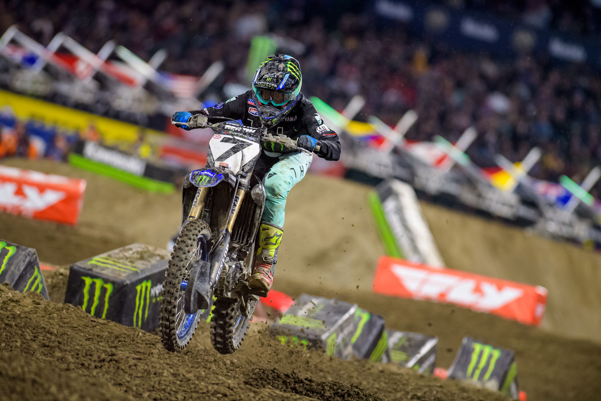 Monster Yamaha Racing's Aaron Plessinger went 12-9-6 for 7th overall on the night.