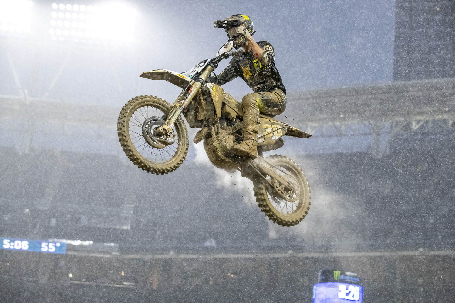 Mosiman navigated his way through the muck Saturday for 14th overall
