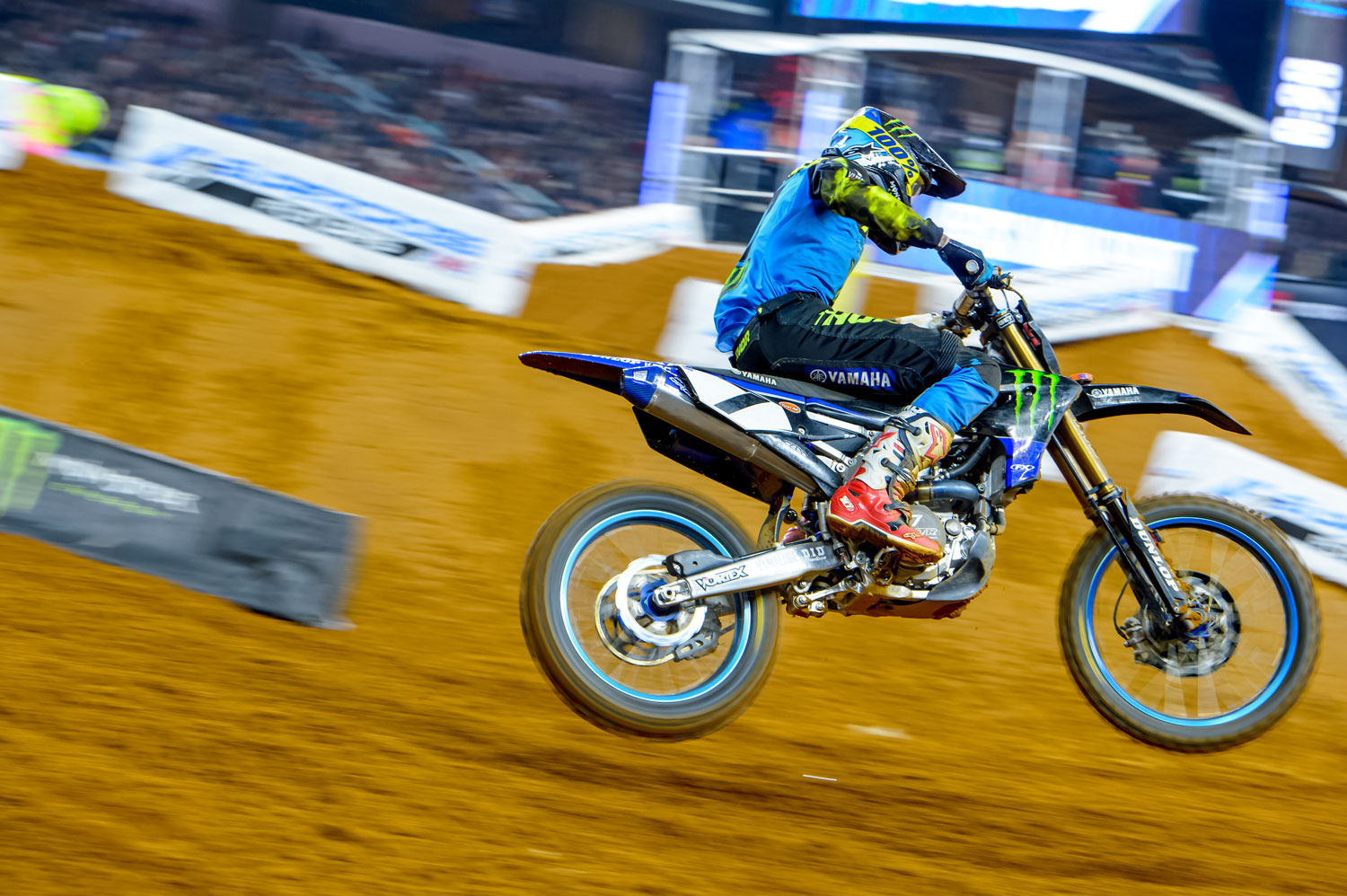 A downed rider at the start of the heat race forced Plessinger back to 14th but he worked his way to finish sixth. In the main, he got pinched off on the start and slowly worked his way back to finish ninth.