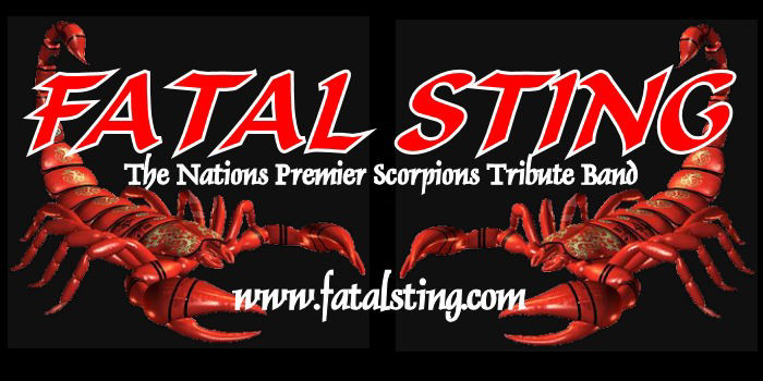 """The Nations Premier Scorpions Tribute Band Check out our official website.  http://www.fatalsting.com   The Scorpions are a German rock band formed in 1965.Since the band's inception, their musical style has ranged from hard rock to heavy metal. The band's only constant member is guitarist Rudolf Schenker, although Klaus Meine has been lead singer for all their studio albums.They are known for their 1980s rock anthem """"Rock You Like a Hurricane"""" and many singles, such as """"No One Like You"""", """"Send Me an Angel"""", """"Still Loving You"""", and """"Wind of Change"""". The band was ranked No. 46 on VH1's Greatest Artists of Hard Rock program.""""Rock You Like a Hurricane"""" is also No. 18 on VH1's list of the 100 Greatest Hard Rock Songs. The band is one of the world's best-selling bands of all time, with claims of sales of 75 million records worldwide.  Fatal Sting - Pays Tribute to one of the Greatest Rock Bands of all time, The Scorpions. The closest replica to The Scorpions that you will ever see and hear."""" Fatal Sting- The Nations Premier Scorpions Tribute Band will Rock You Like A Hurricane. Witness the Nation's Premier Scorpions Tribute Experience.!! Just Like the real thing..... Don't Miss It !!!"""