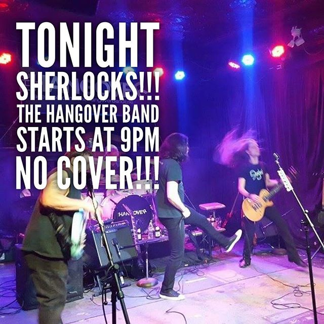 Celebrate Erie Continues at SHERLOCKS tonight with THE HANGOVER BAND! Starts at 9pm, no cover!!! #art #music #sherlockserie #celibrateerie #livemusic #tribute #band #covers #sherlocksparkplace #eriepa #erie #downtown #saturdaynight