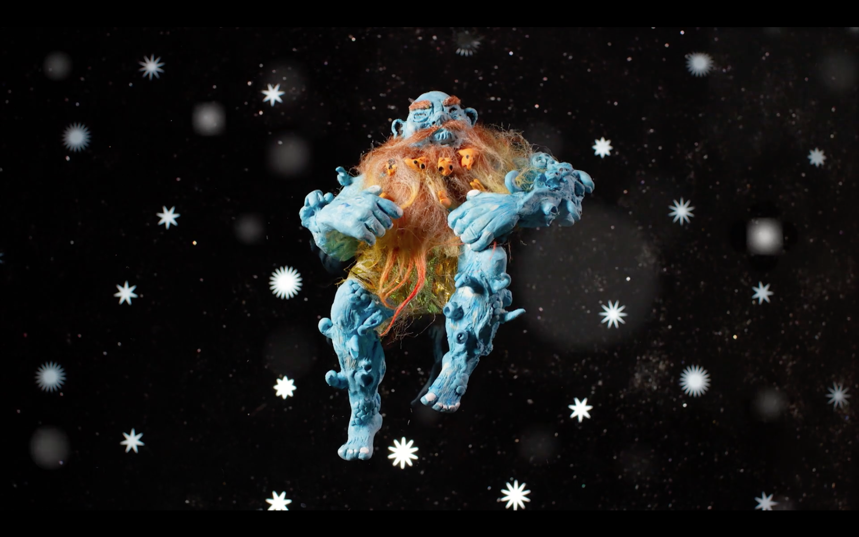 Still from  Adult Swim ID: Blue God in Space , 2018