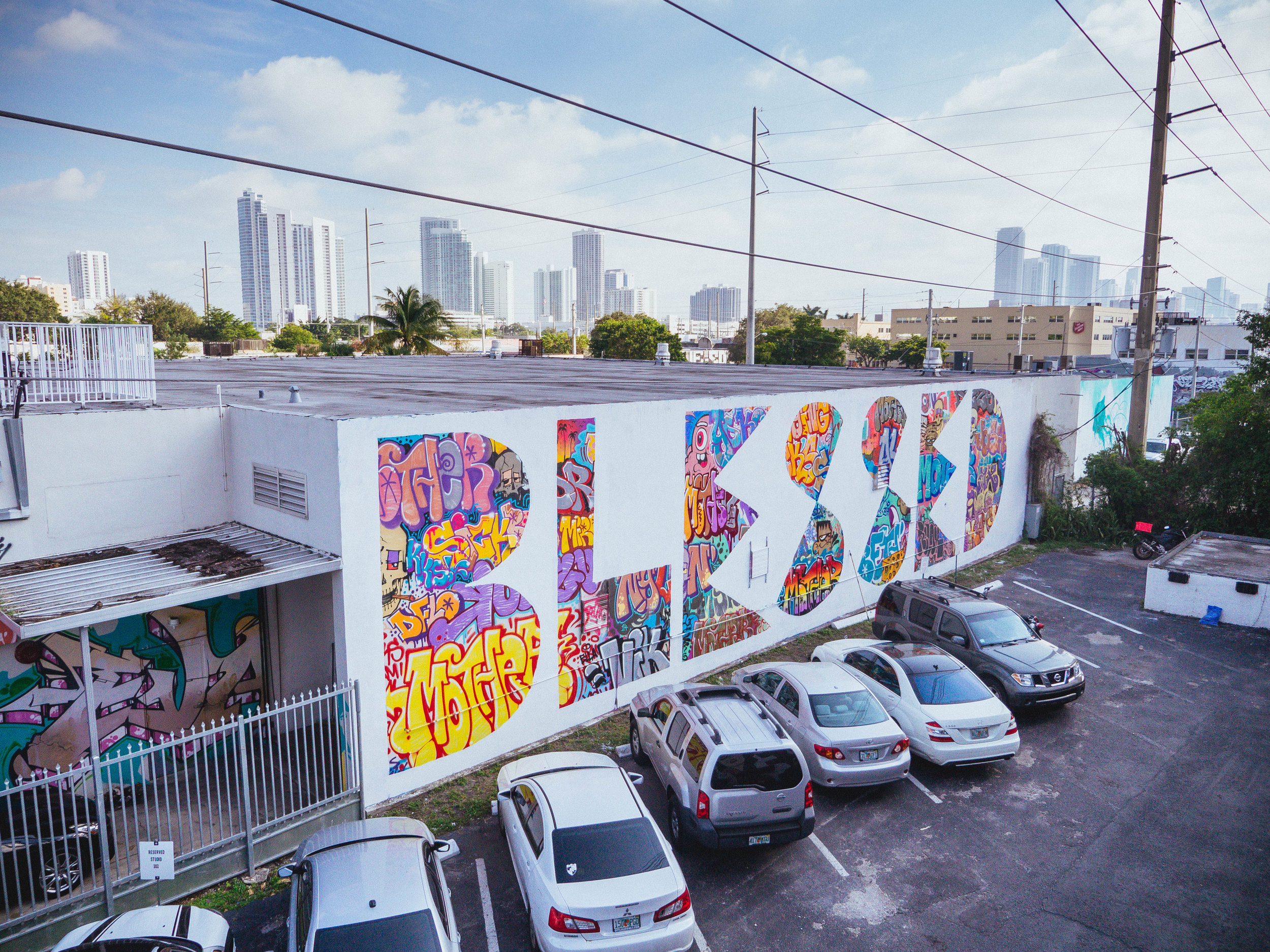 Word To Mother in Miami for Art Basel - Louis, Spraying Bricks