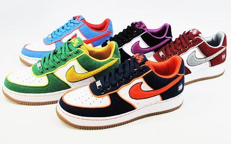 All Five of the borough packs AF1's