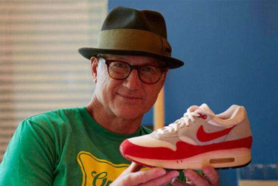 Tinker Hatfield Holding An Early Air Max 1