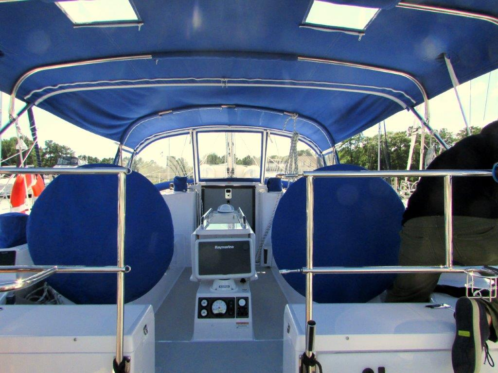 Sailboat Shardana Cockpit