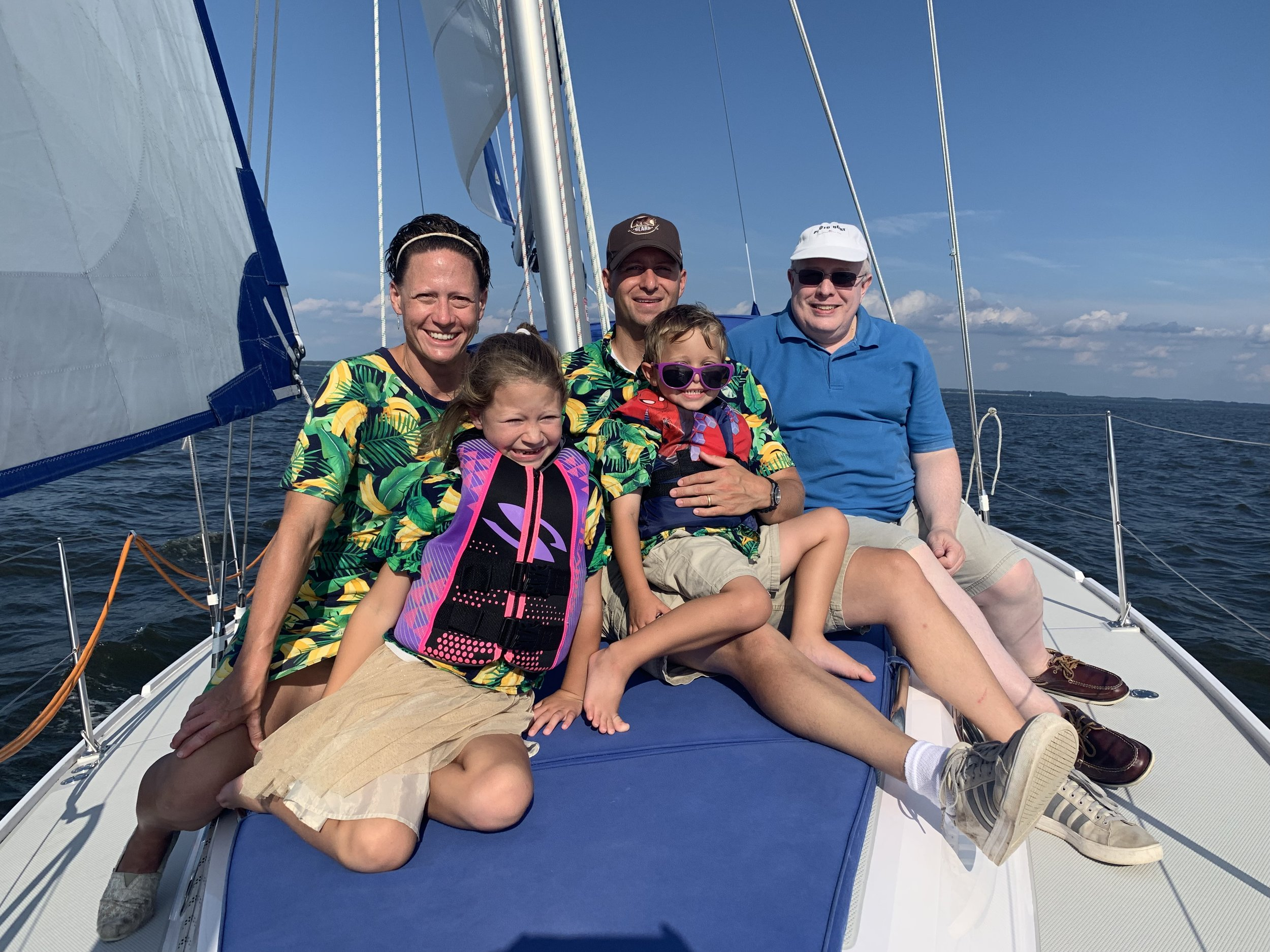 Family Sailing on Chesapeake Bay