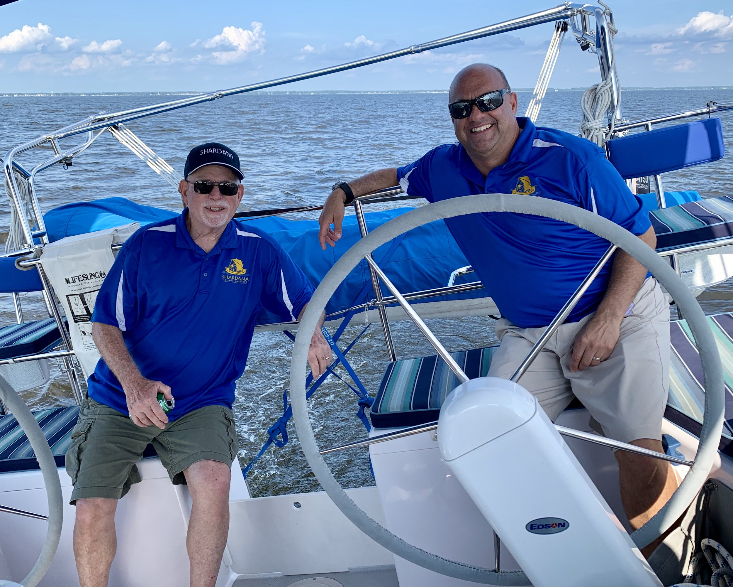Captain and Crew of Shardana Sailing Charters on Chesapeake Bay