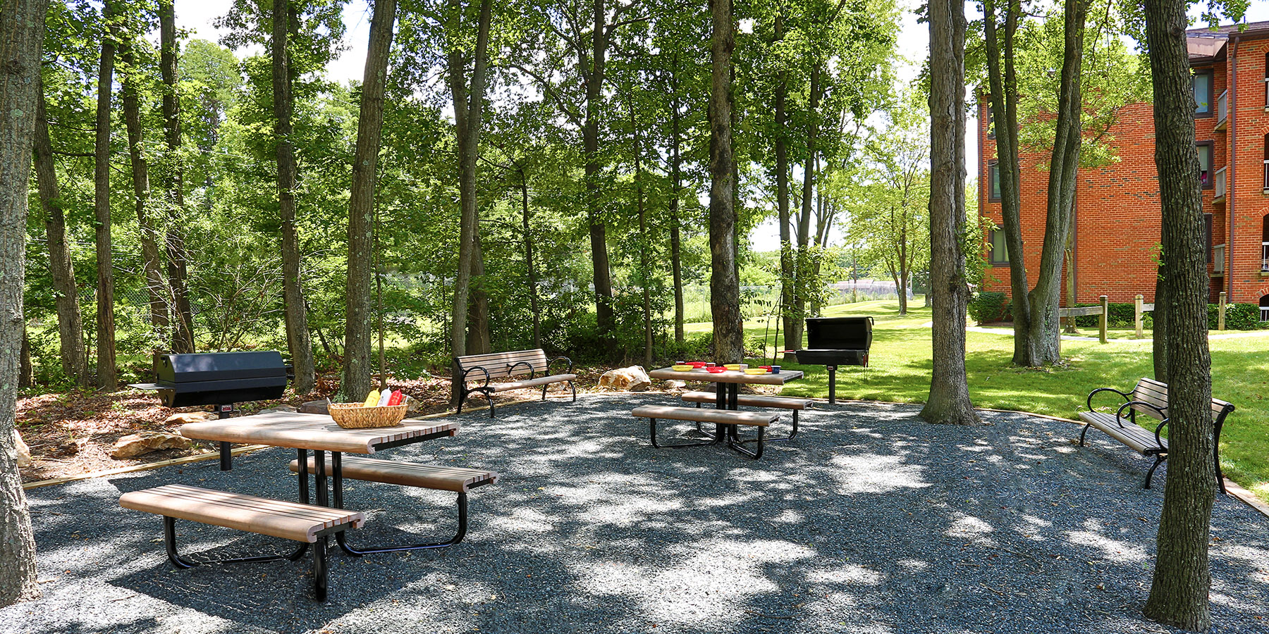 WOODED PICNIC / BARBEQUE AREA