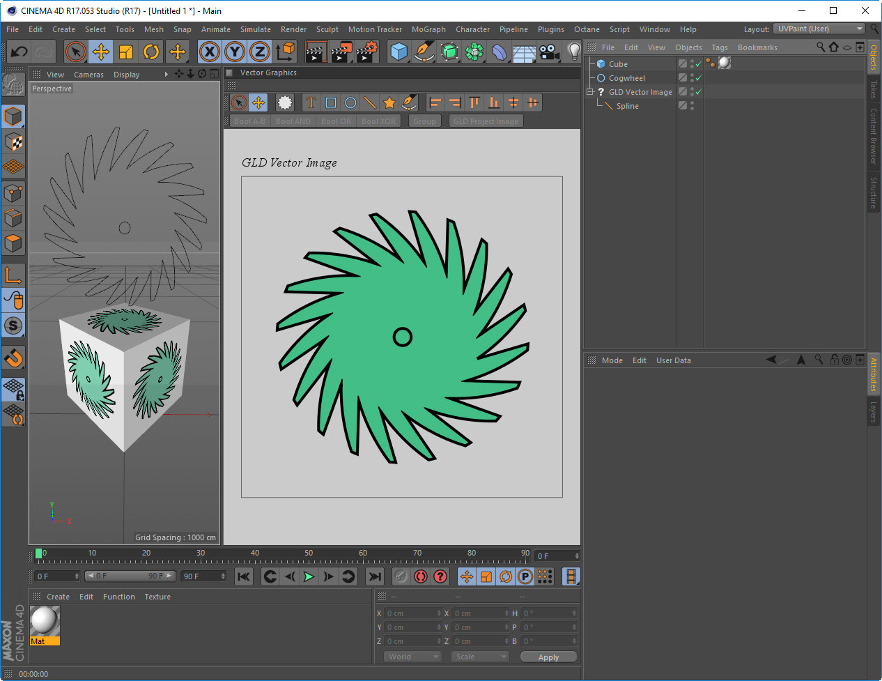 Use Splines As Vector Graphics