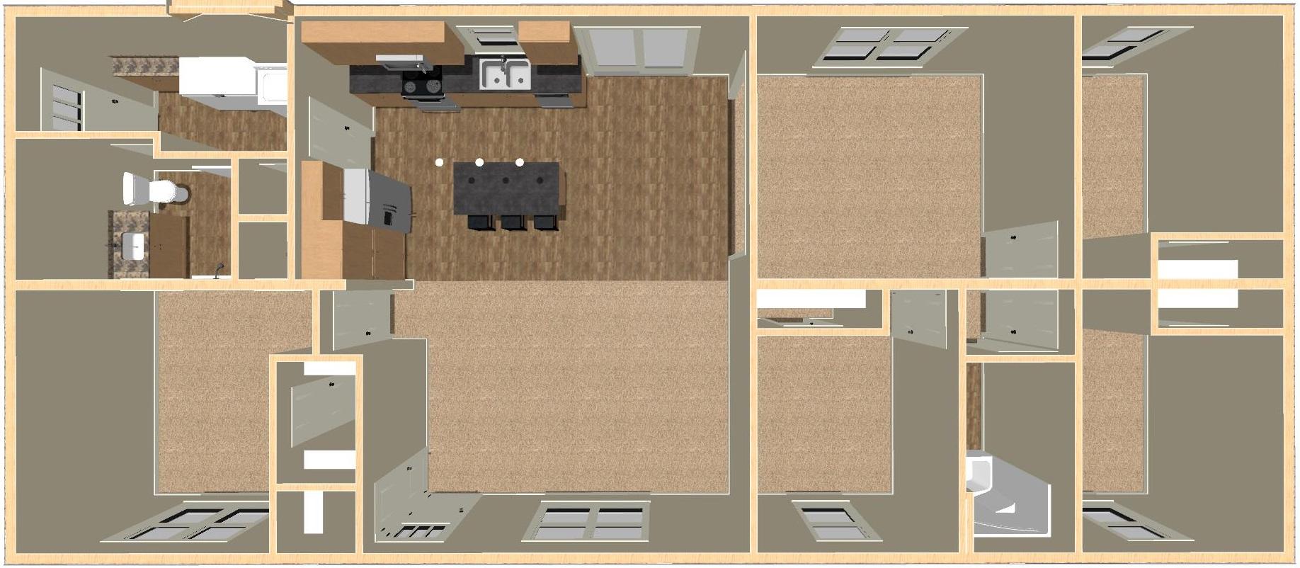 Keokuk | 1,728 Square Foot | 27' x 64'