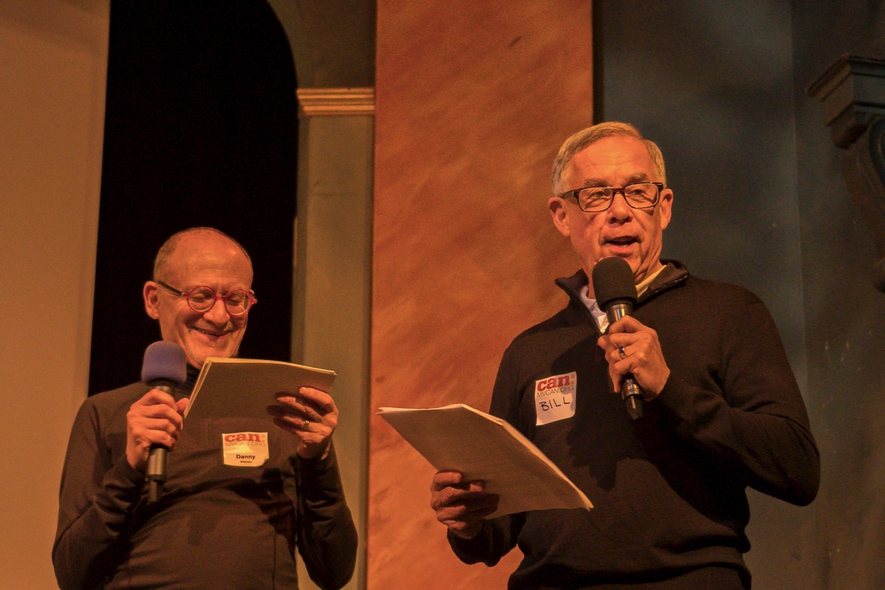 MVCAN team leaders Danny Altman and Bill Jansen present a fun list of Top 10 things we did this year. Photo by Martha Ture.