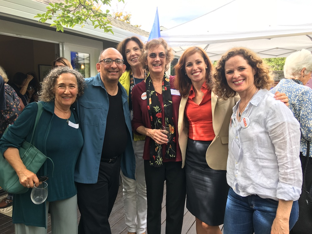 Anna Pletcher (second from right) with members of MVCAN's leadership.