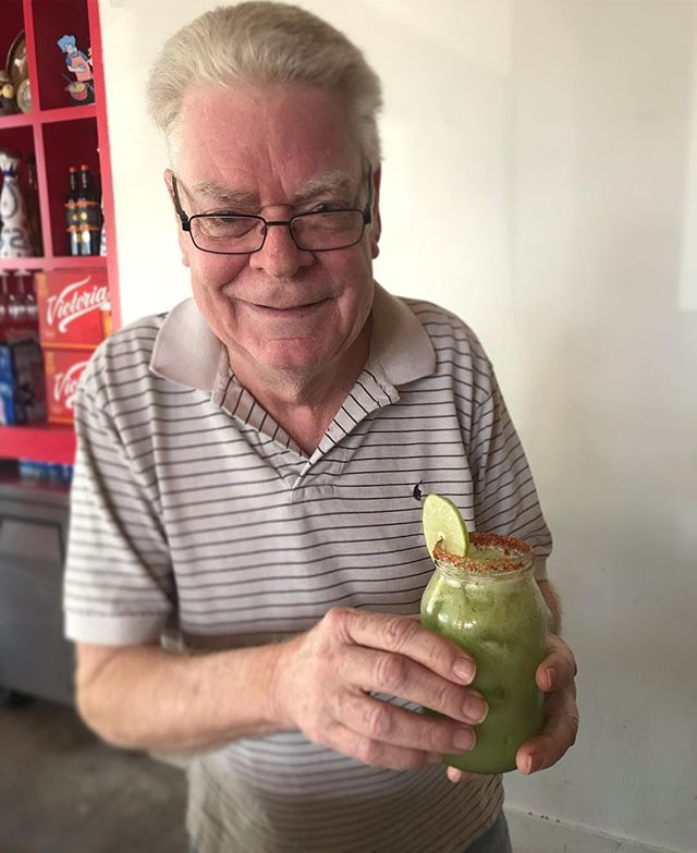 Richard is here every Saturday at 11 AM and today he officially opens the new month of December presenting you the margarita of the day: CUCUMBER! #BestBrunchInHouston #LoveOurClients
