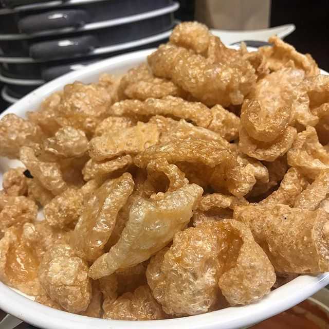 Chicharrones mean pork rinds and pork rinds mean happiness !😊#MexicoCityInHouston