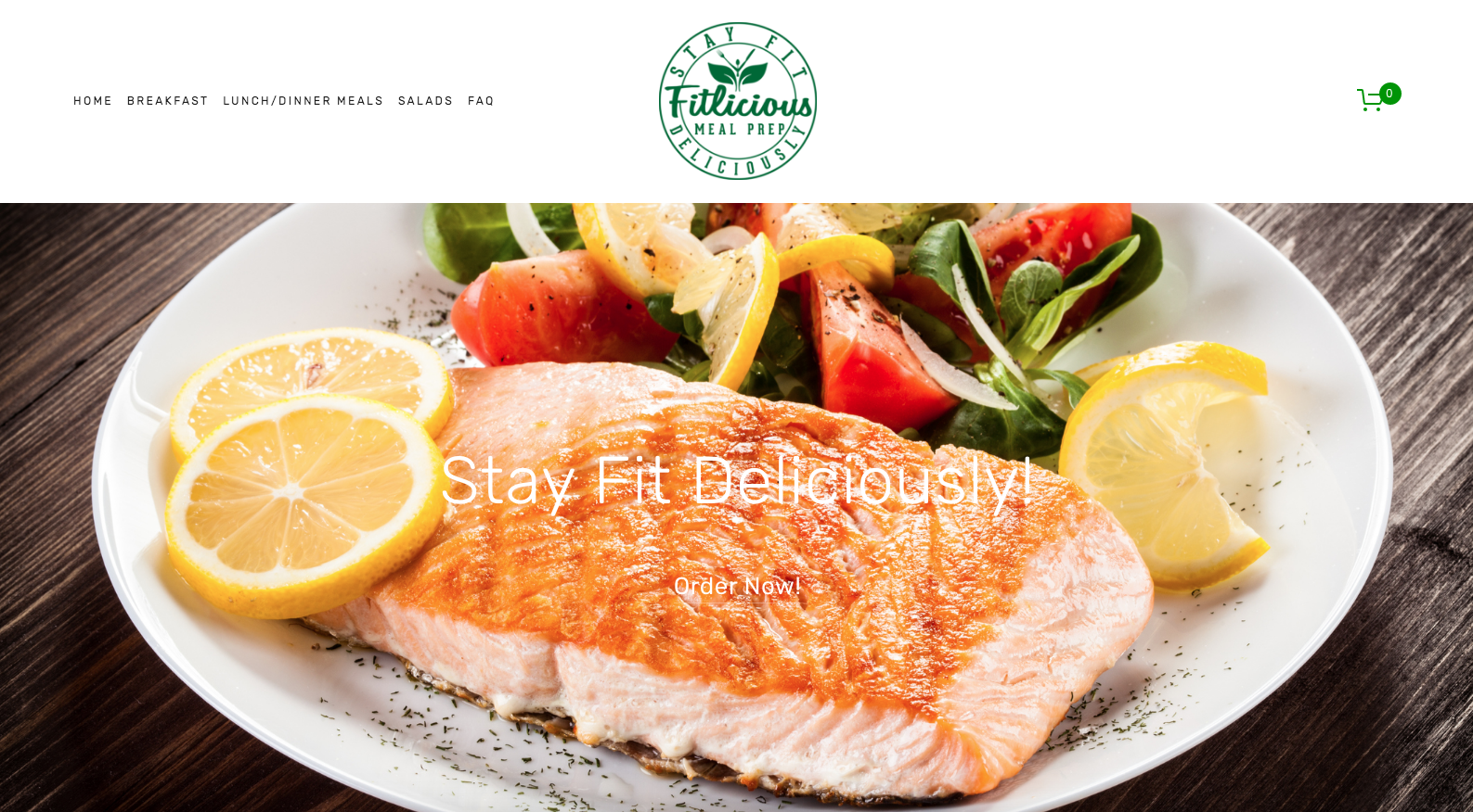 eCommerce website for a meal prep company featuring parallax scrolling, HD images, multiple variants when building meals, and popup email form.