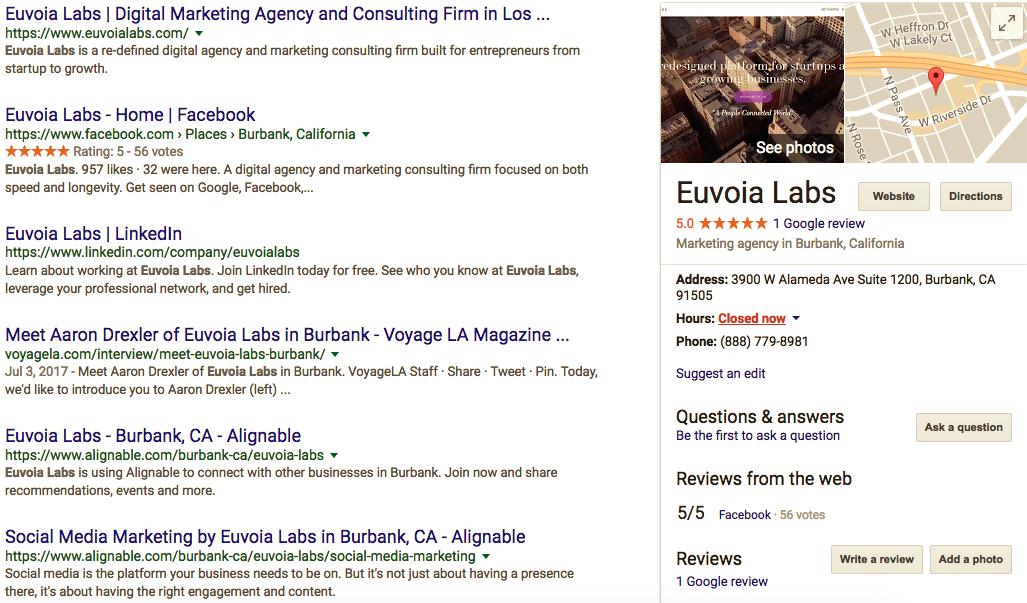 Euvoia Labs Digital Marketing Reviews