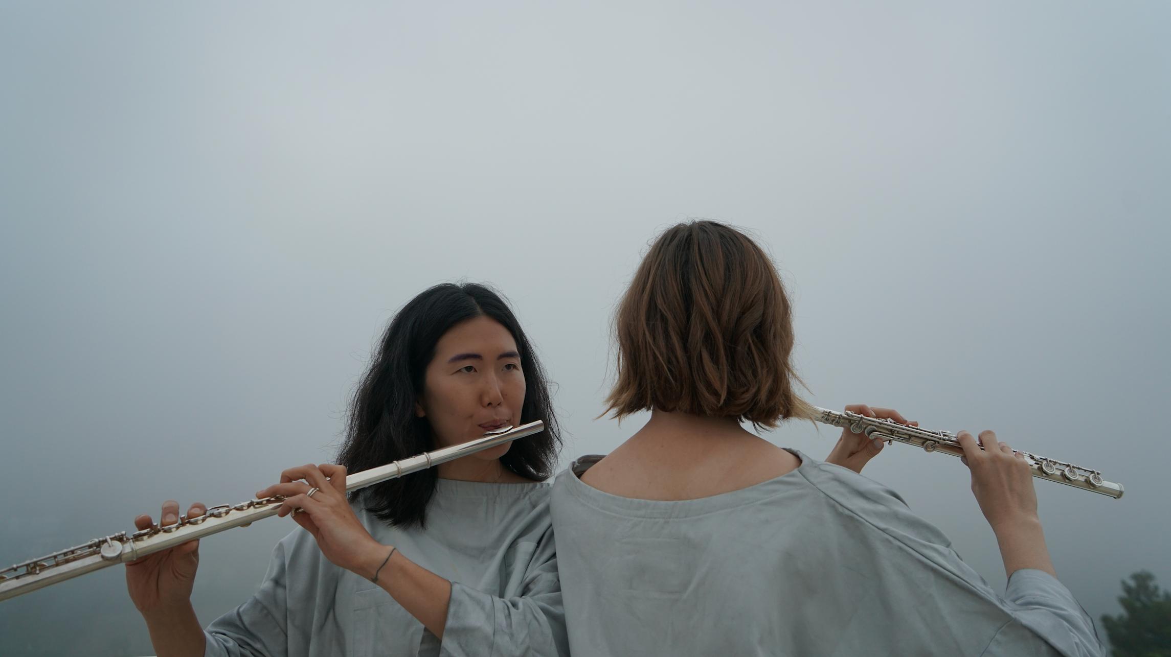 """""""Sky Score"""" - pictured: Jiha Lee and Rachel Beetz"""