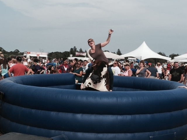 Would it be a Country Festival without Bull Riding? How long will you stay on?