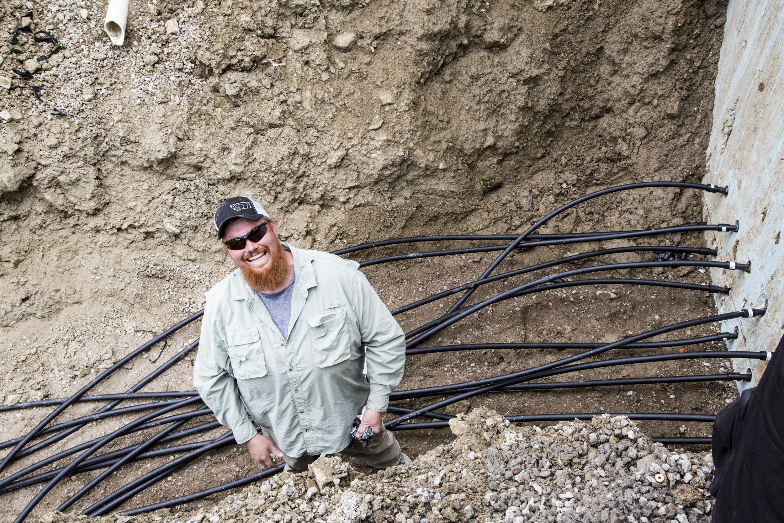Brandon, Geothermal trench.jpg