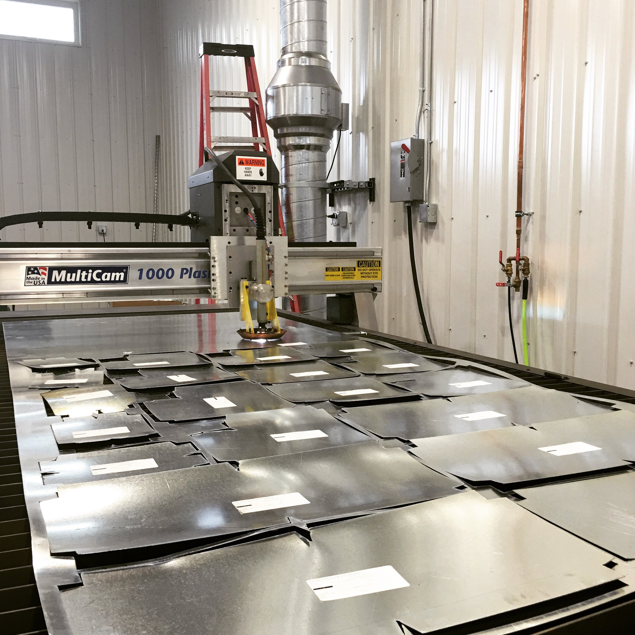H.V.A.C. Fabrication - Harvey's H.V.A.C. Division has an internal database of components for all of our sheet metal cutting needs. The database is filled with thousands of flat patterns that ensure top notch precision and accuracy.