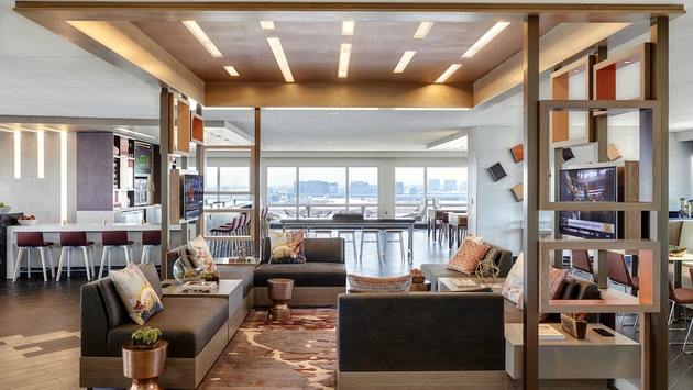 The new M Club Lounge at Los Angeles Airport Marriott. (Courtesy Marriott International)