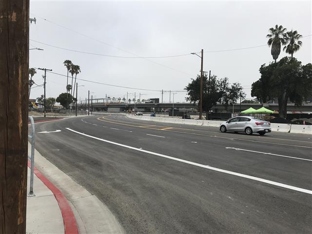 The 'shoofly road opened to vehicles and pedestrians on Monday morning.