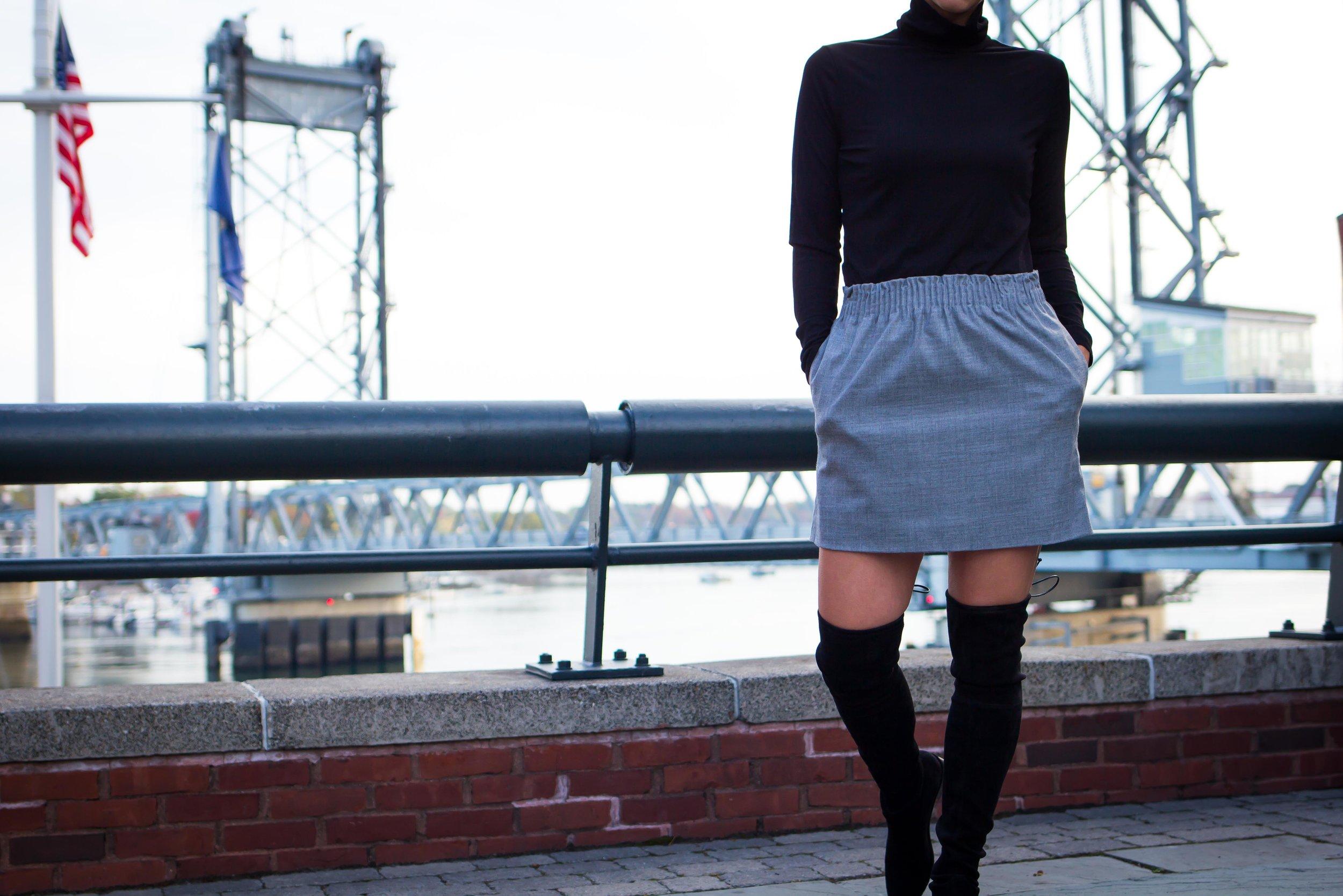 Fall Outfit Idea: OTK Boots