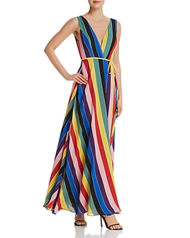Rainbow Striped Maxi - Perfect for a spring wedding or special event.