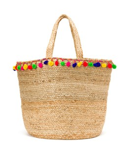 Pom Pom Tote - Perfect for the beach!