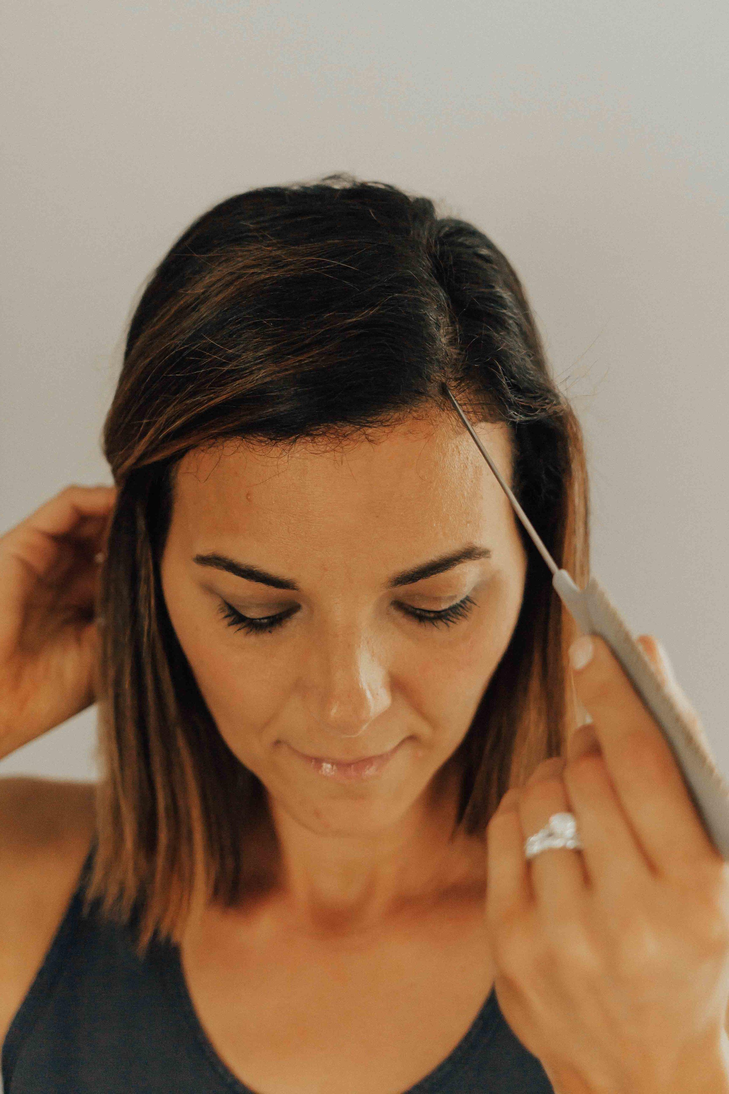 Hair Tutorial - Deep side part - Virtue Haircare - Bob Hair Tutorial -  www.heartandseam.com  #heartandseam