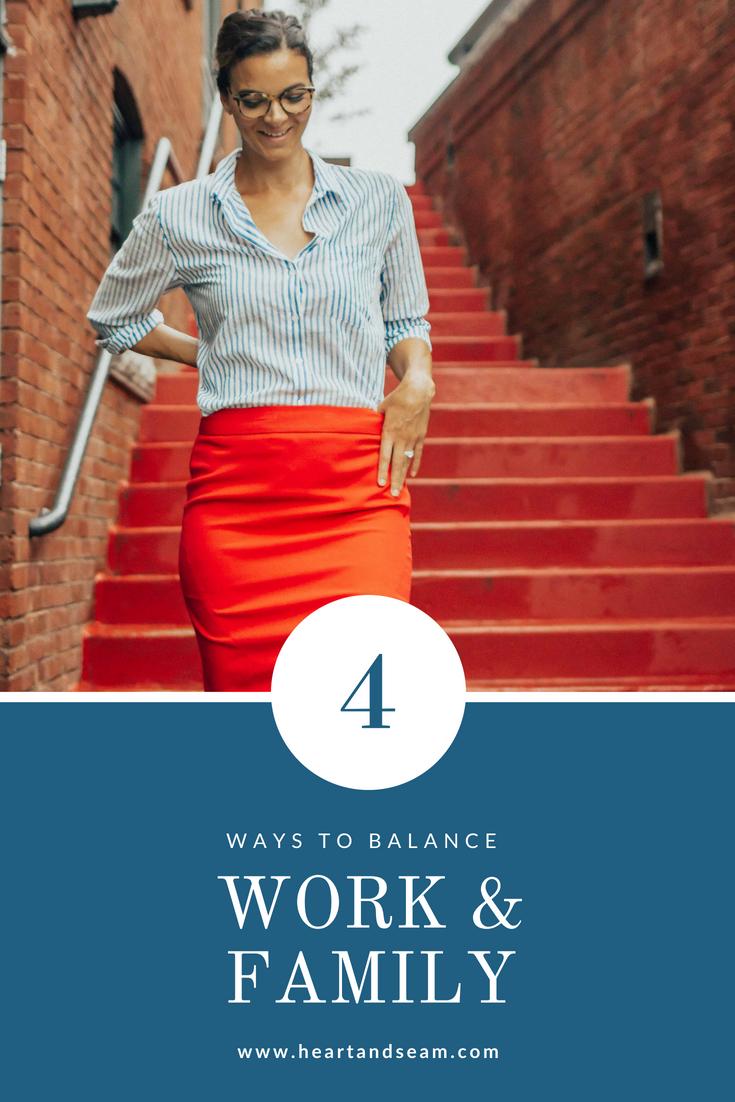 Work and Family Balance – Work Wear Outfits – Workwear Outfit ideas – Work Wear- Ways to Balance Work and Family- Tips to Help Balance Work and Family Life #workwear #heartandseam www.heartandseam.com