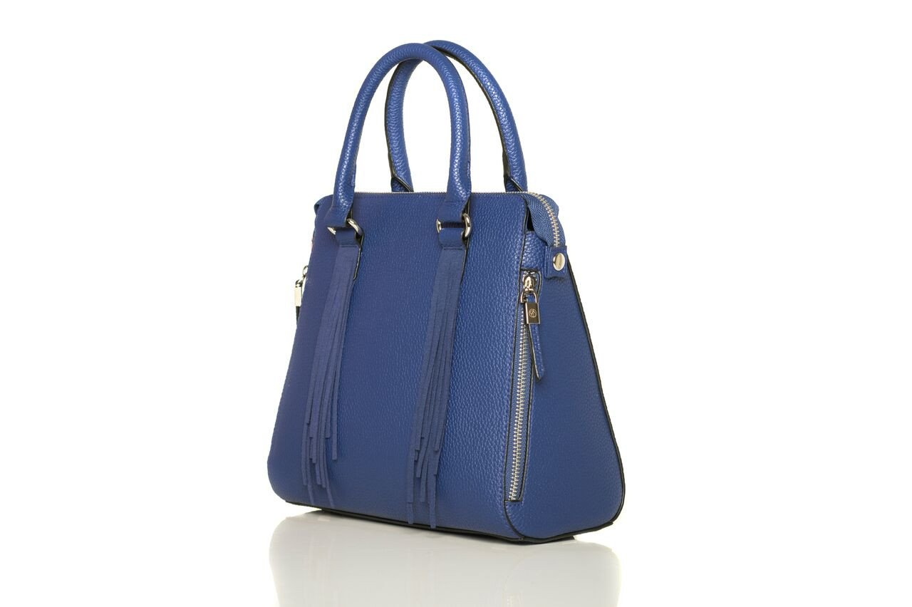 Tassel Handbags - This bag from Oliver Bilou (shown above) is super sophisticated yet a fun twist. The tassels add interest and the bold blue hue adds a bold statement.