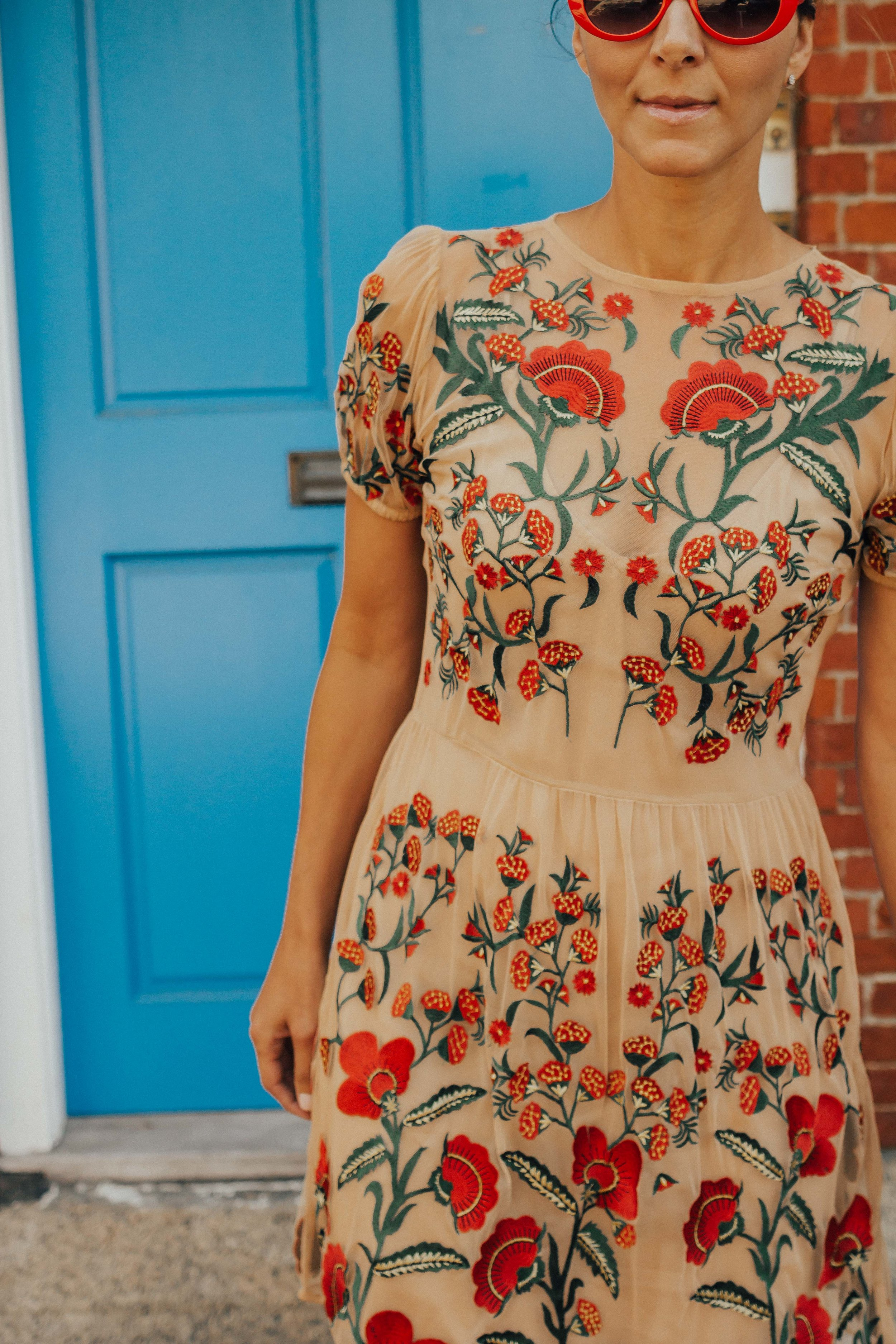 Nude Dresses – Holiday Dresses – Embroidered Dresses – Tulle Dresses – Floral Dresses - Cocktail Party Dresses – Wedding Guest Dresses #heartandseam #Dra www.heartandseam.com