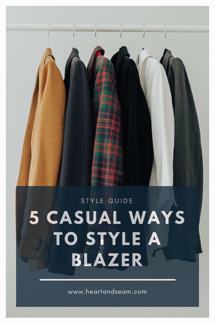 How to style a blazer casual – how to style a blazer- casual blazer- casual blazer outfit ideas – casual blazer outfits – blazer with jeans outfit – casual blazer – blazer for work – casual outfits - #blazer #style #heartandseam www.heartandseam.com