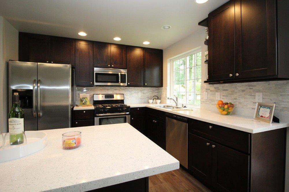 Cabinets Best Kitchen, Mocha Kitchen Cabinets With Granite