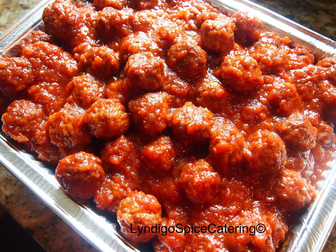 Sweet & Tangy Meatballs.