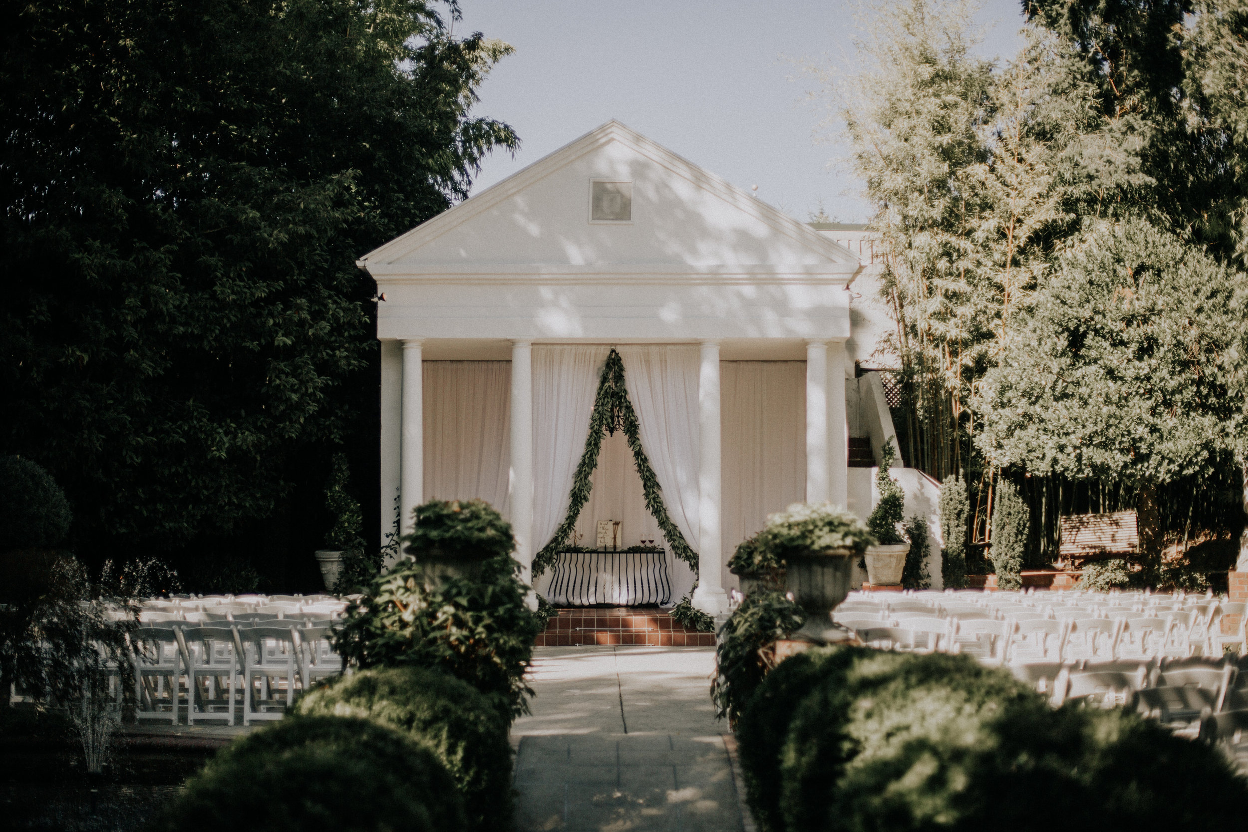 The ceremony site at Gray Gables Estate