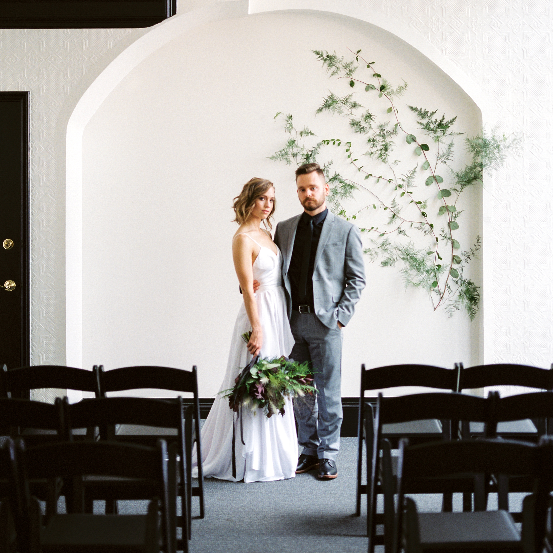Modern Masculine Wedding Inspiration at the Elkspace in the Sentinel -