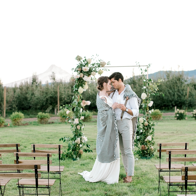 Al Fresco Wedding Inspiration Shoot at The Orchard Hood River -