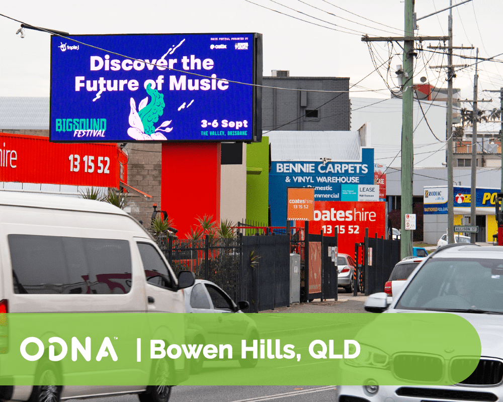 Bowen Hills - ODNA Digital Billboard