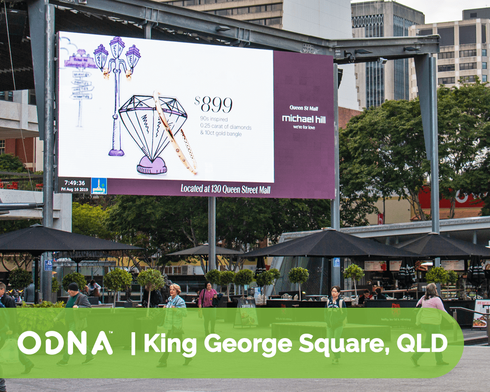 King George Square, Brisbane CBD - ODNA Digital Billboard
