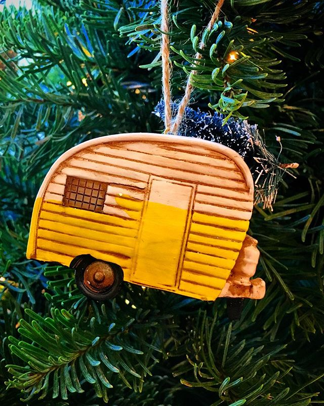 My first #vintagecamper ornament, well before I got any actual trailers! #burstwithjoy #rvftaornament