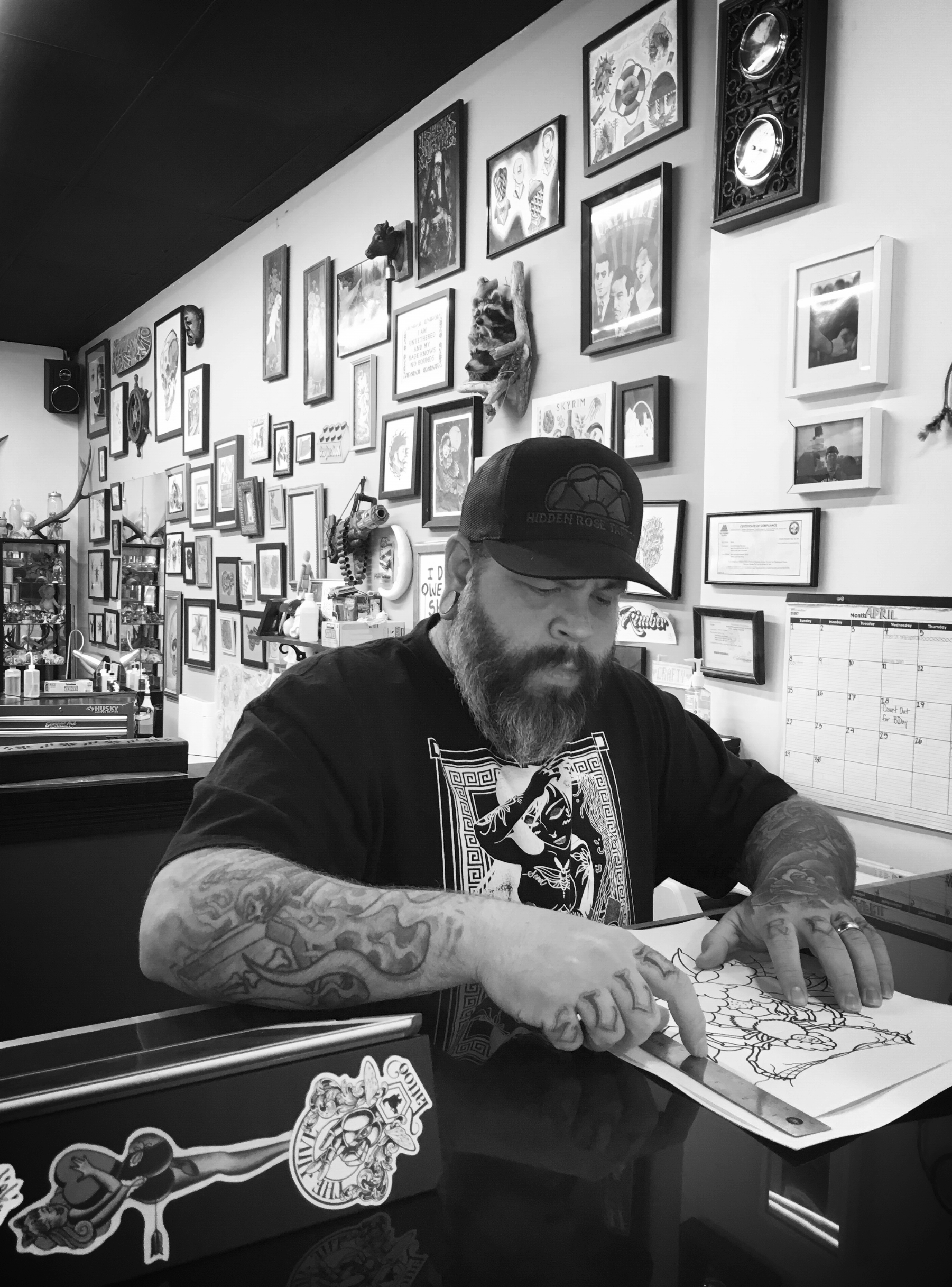 Jake Acree traditional style tattoo artist on Hawthorne Blvd in Portland, OR