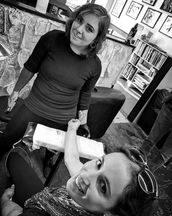 Kimber Teatro Female tattoo artist in the tattoo shop on Hawthorne Blvd in Portland, OR