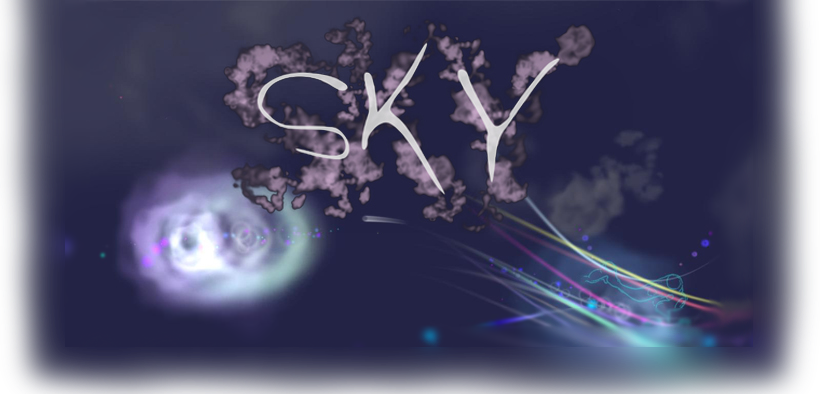 SKY - Sky is a slow paced, atmospheric sound-explorer that allows the player to create relationships of sound, line and image by navigating an open world of clouds and constellations.