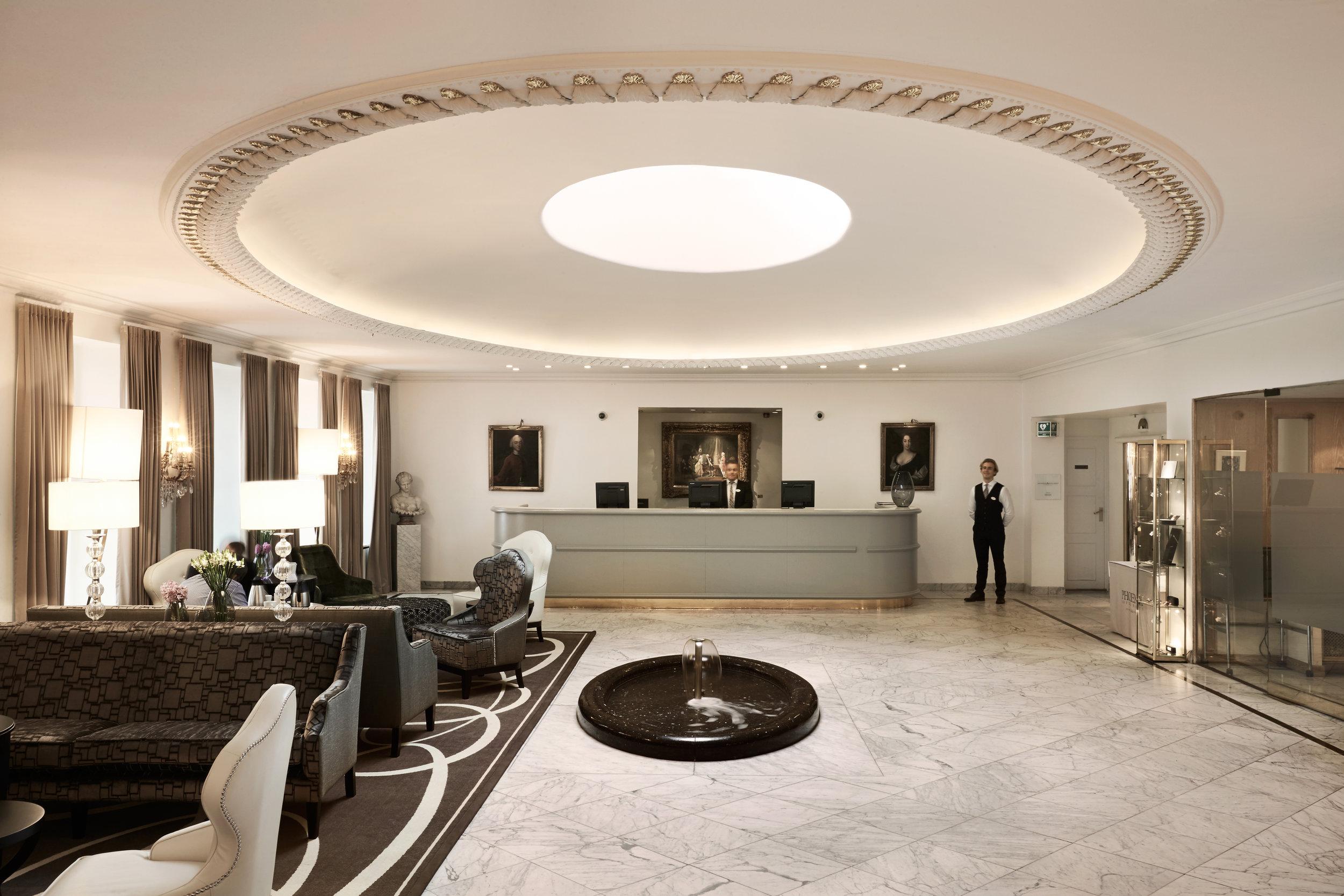 The lobby of Hotel Phoenix Copenhagen - photo is courtesy of  the hotel's press kit