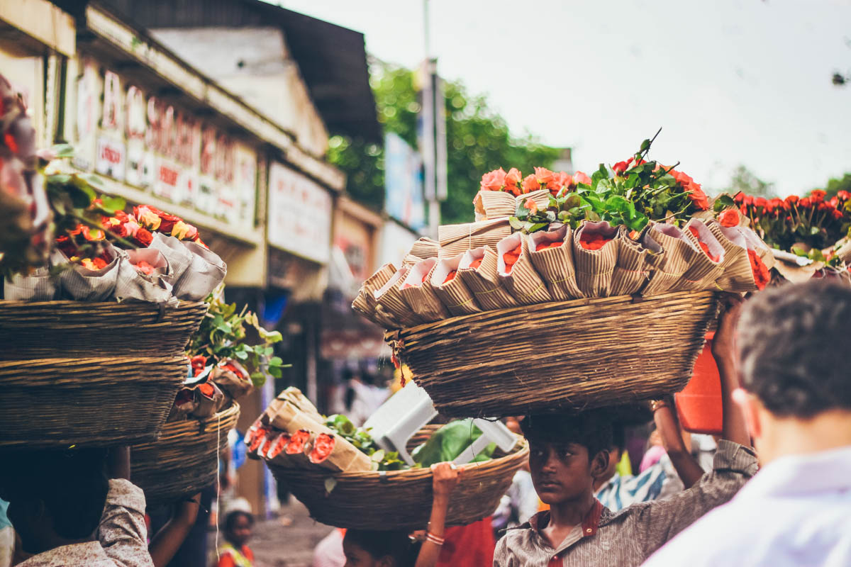 Flower seller - Dadar, September 2011
